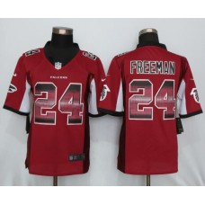2016 New Nike Atlanta Falcons 24 Freeman Red Strobe Limited Jersey