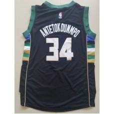 2017 NBA Milwaukee Bucks 34 Giannis Antetokounmpo Black kids jerseys