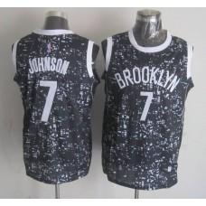 NBA Brooklyn Nets 7 Johnson Black National Flag Star Jersey