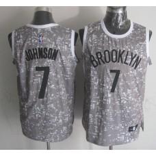 NBA Brooklyn Nets 7 Johnson Grey National Flag Star Jersey