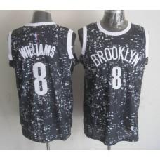 NBA Brooklyn Nets 8 Williams Black National Flag Star Jersey