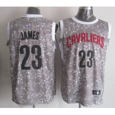 NBA Cleveland Cavaliers 23 james Grey National Flag Star Jersey
