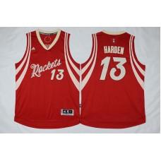 NBA Houston Rockets 13 James Harden Red Christmas Day Swingman Jersey