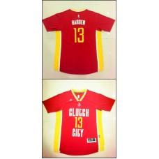 NBA Houston Rockets 13 James Harden Red Pride Swingman Jersey