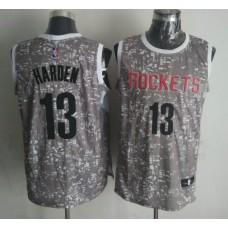 NBA Houston Rockets 13 harden Grey National Flag Star Jersey