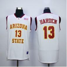 NBA Houston Rockets Arizona Stata Sun Devils NCAA 13 James Harden White Vintage