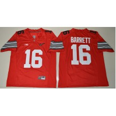 2015 Ohio State Buckeyes J.T. Barrett 16 Diamond Quest College Football Red Jersey