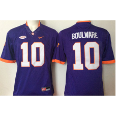 2016 NCAA Clemson Tigers 10 Boulware Purple Jerseys