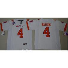 2016 NCAA Clemson Tigers 4 DeShaun Watson White College Football Limited Jersey