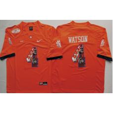 2016 NCAA Clemson Tigers 4 Watson Orange Limited Fashion Edition Jerseys
