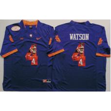2016 NCAA Clemson Tigers 4 Watson Purple Limited Fashion Edition Jerseys