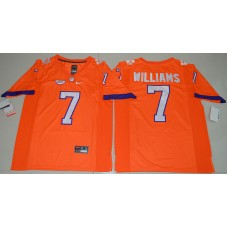 2016 NCAA Clemson Tigers 7 Mike Williams Orange College Football Limited Jersey