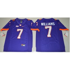 2016 NCAA Clemson Tigers 7 Mike Williams Purple College Football Limited Jersey
