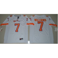 2016 NCAA Clemson Tigers 7 Mike Williams White College Football Limited Jersey
