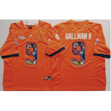 2016 NCAA Clemson Tigers 9 Gallman ii Orange Fashion Edition Jerseys