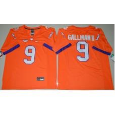 2016 NCAA Clemson Tigers 9 Wayne Gallman II Orange College Football Limited Jersey