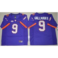 2016 NCAA Clemson Tigers 9 Wayne Gallman II Purple College Football Limited Jersey