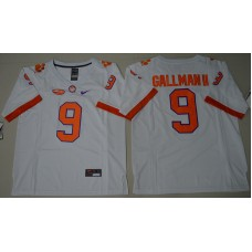 2016 NCAA Clemson Tigers 9 Wayne Gallman II White College Football Limited Jersey