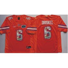 2016 NCAA Florida Gators 6 Driskel Orange Fashion Edition Jerseys