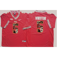 2016 NCAA Florida State Seminoles 5 Winston Red Fashion Edition Jerseys