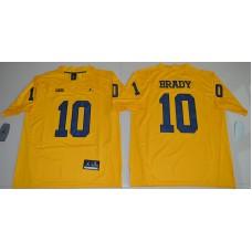 2016 NCAA Jordan Brand Michigan Wolverines 10 Tom Brady Yellow College Football Limited Jersey