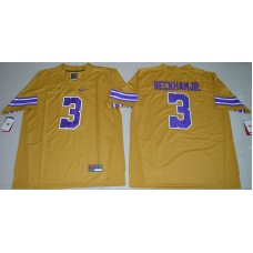 2016 NCAA LSU Tigers 3 Odell Beckham Jr. Gridiron Gold College Football Limited Throwback Legand Jersey