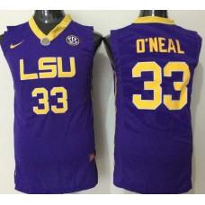 2016 NCAA LSU Tigers 33 O'neal purple jerseys