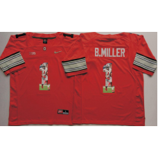 2016 NCAA Ohio State Buckeyes 1 B.Miller Red Fashion Edition Jerseys
