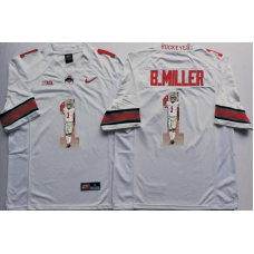 2016 NCAA Ohio State Buckeyes 1 B.Miller White Fashion Edition Jerseys2