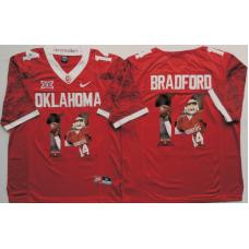 2016 NCAA Oklahoma Sooners 14 Bradford Red Limited Fashion Edition Jerseys