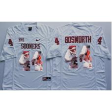 2016 NCAA Oklahoma Sooners 44 Bosworth White Fashion Edition Jerseys
