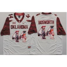 2016 NCAA Oklahoma Sooners 44 Bosworth White Limited Fashion Edition Jerseys