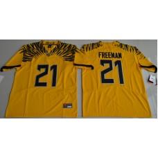 2016 NCAA Oregon Duck 21 Royce Freeman Yellow College Football Electric Lightning Limited Jerseys