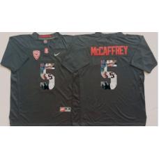 2016 NCAA Stanford Cardinals 5 Mccaffrey Black Fashion Edition Jerseys