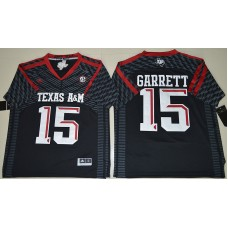 2016 NCAA Texas A&M Aggies 15 Myles Garrett Black College Football Authentic Jerseys