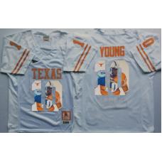 2016 NCAA Texas Longhorns 10 Young White Fashion Edition Jerseys