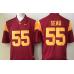 2016 NCAA USC Trojans 55 Seau Red Jerseys