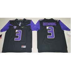 2016 NCAA Washington Huskies 3 Jake Browning Black College Football Limited Jersey