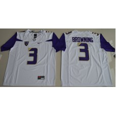 2016 NCAA Washington Huskies 3 Jake Browning White College Football Limited Jersey