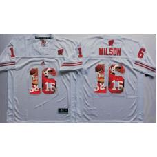 2016 NCAA Wisconsin Badgers 16 Wilson White Fashion Edition Jerseys