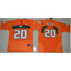 2016 Youth NCAA Miami Hurricanes 20 Ed Reed Orange College Football Jersey