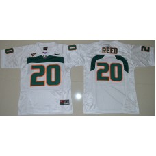 2016 Youth NCAA Miami Hurricanes 20 Ed Reed White College Football Jersey