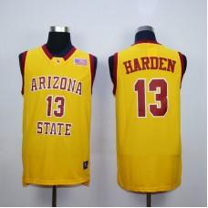 NBA Houston Rockets Arizona Stata Sun Devils NCAA 13 James Harden Yellow Vintage.