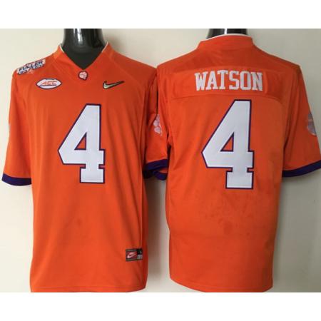 NCAA 2016 Clemson Tigers 4 Watson orange jerseys