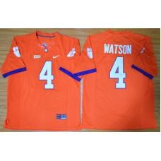 NCAA Clemson Tigers 4 Deshaun Watson orange 2015 Football Jersey