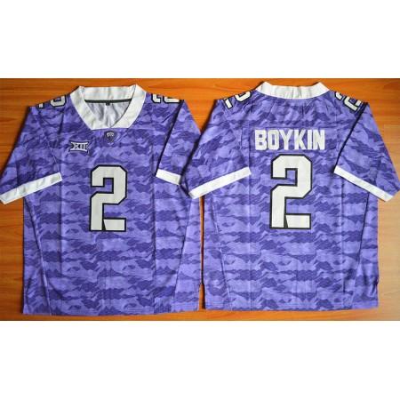 NCAA TCU Horned Frogs 2 Trevone Boykin purple 2015 Football Jersey