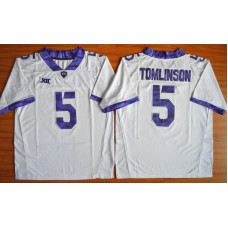 NCAA TCU Horned Frogs 5 LaDainian Tomlinson white 2015 Football Jersey.