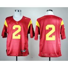 NCAA USC Trojans 2 Robert Woods 2 Red Nike College Football Jersey