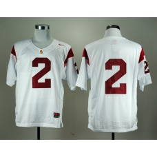 NCAA USC Trojans 2 Robert Woods White Nike College Football Jersey