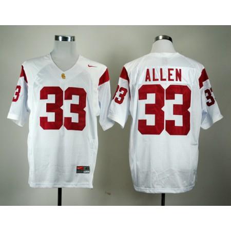 NCAA USC Trojans 33 Marcus Allen White Nike College Football Jersey.